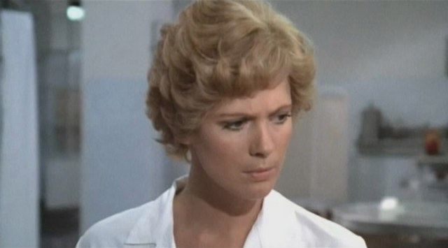 "Mimsy Farmer is a magnet for bloody corpses and sexual degenrates; no wonder she's in such a cloudy move in the busy but confused Armando Crispino giallo ""Macchie solari""."